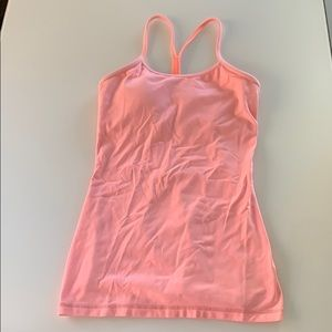 Lululemon peach tank with built-in bra